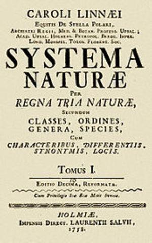 Systema Naturae published