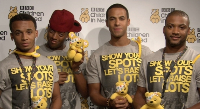 JLS performs on Children in need!!!