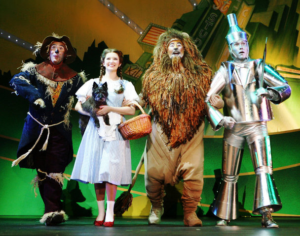 The Wizard of Oz. opens on broadway