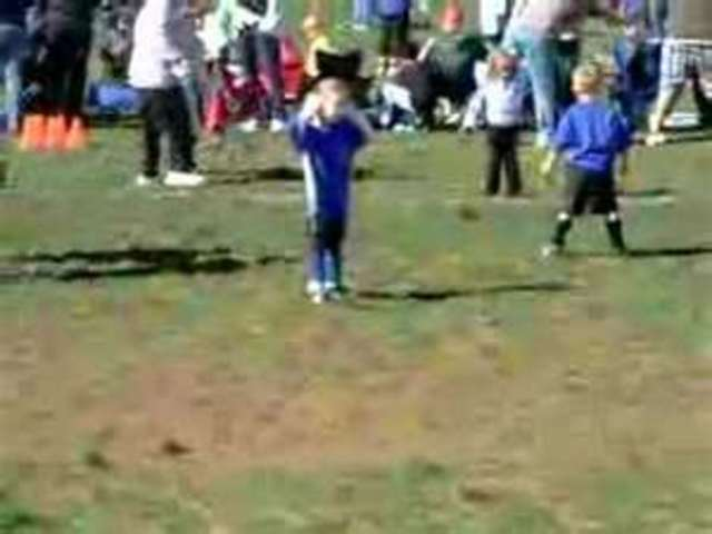 I first played soccer