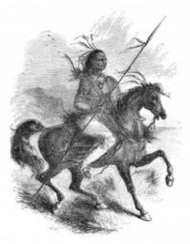 Comanches raid New Mexico for horses.
