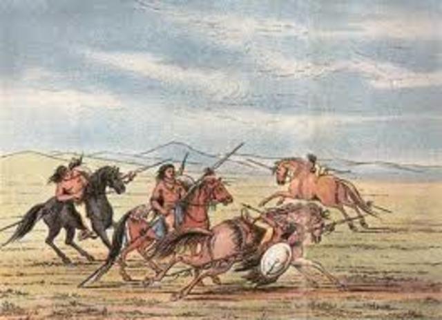 Comanches raid Pecos