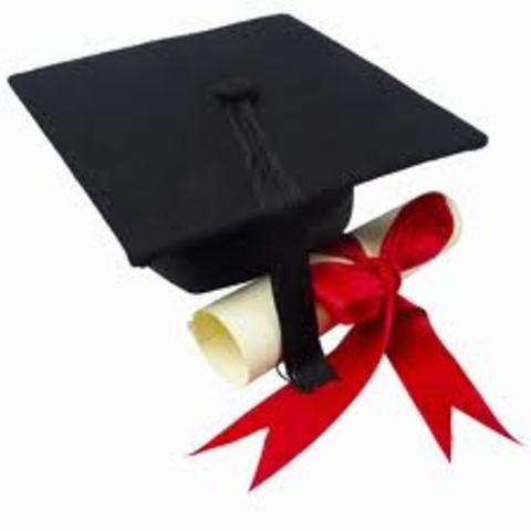 Graduated from kindergarten