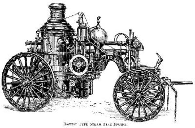 thomas lote invents first automobile fire engine