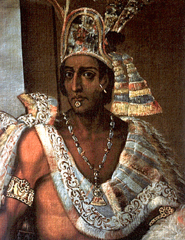 Montezuma the 9th Aztec emperor killed