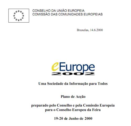 Aprovação do Plano de Ação eEurope 2002: Uma Sociedade da Informação para todos