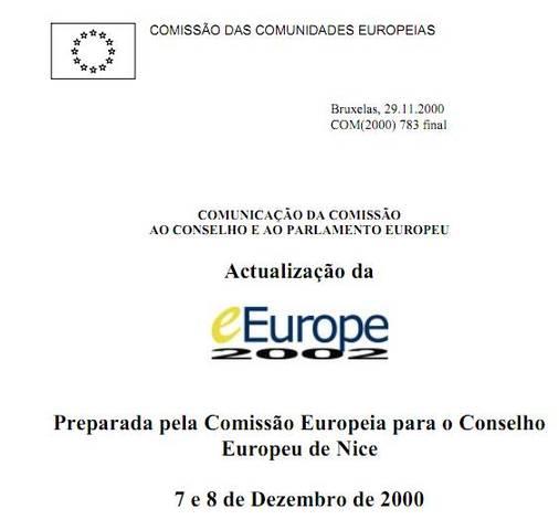 Atualização da eEurope 2002