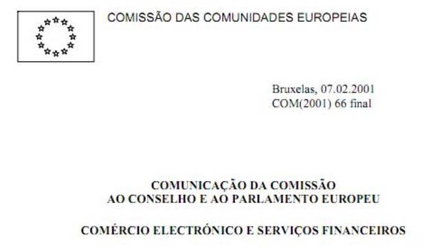 Comércio eletrónico e serviços financeiros