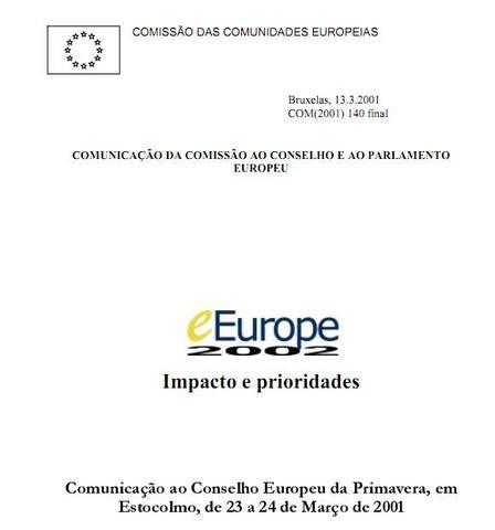 eEurope 2002 – Impacto e prioridades