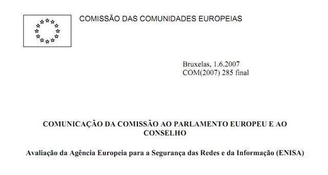 Avaliação da Agência Europeia para a Segurança das Redes e da Informação (ENISA)