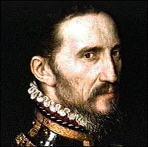 Francisco Vásquez de Coronado meets the Apache Indians