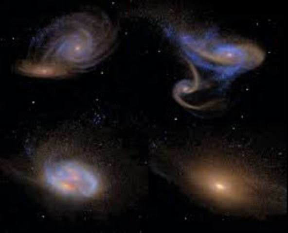 Galaxies Evolved and Moved Apart