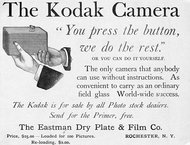 """""""Tu presionas el botón, nosotros hacemos el resto"""", así era la publicidad de Kodak"""