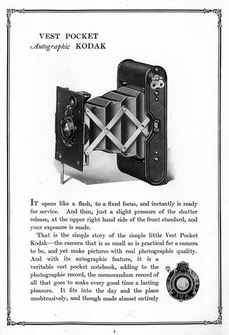 """La """"Vest Pocket Kodak"""" fue la primer cámara """"de bolsillo"""""""