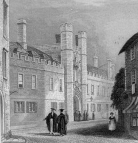Ingresa en Christ's College de Cambridge