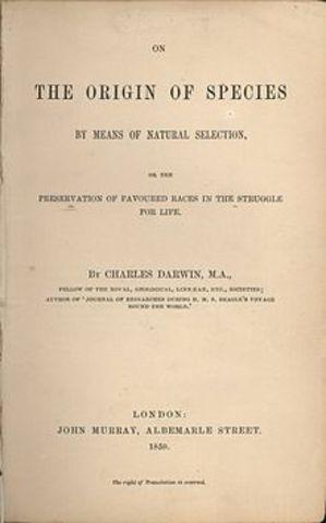 Darwin publica ``El origen de las especies´´