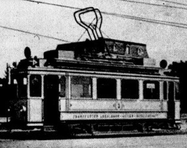 Η πρώτη γραμμή ηλεκτροκίνητου τραμ