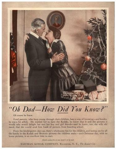 """""""Oh Papá!, ¿cómo sabías? Otro aviso más de la publicidad de Kodak"""