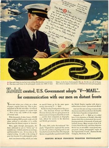 """Sirviendo al progreso humano con la fotografía"", otro aviso más de Kodak"