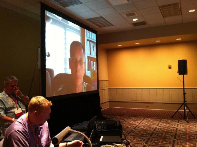 Skyped into ISTE11 #edchat