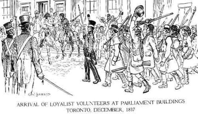 Rebellion of 1837 causes comparison