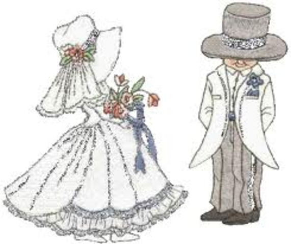 Darwin y Emma se casan