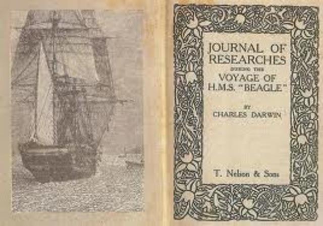 Publica la obra Diario del viaje del Beagle