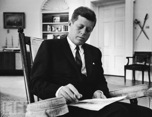 John F. Kennedy moves into the White House