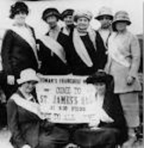 Establishment of Women's Franchise League
