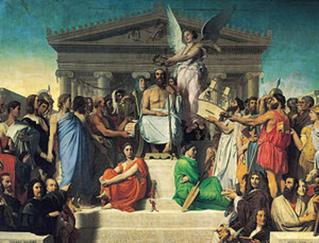 The Apotheosis of Homer- Jean Auguste Dominique Ingres