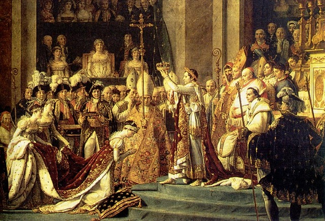 Napoleon crowns himself Emperor of France