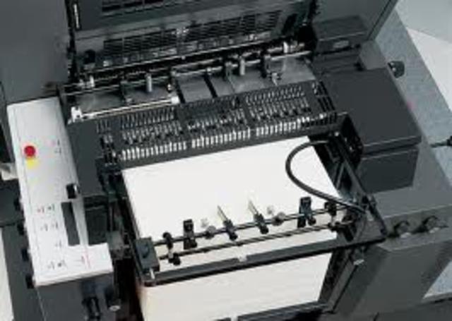 """""""Η πρώτη μηχανή με κυλινδρική εκτυπωτική πλάκα"""""""