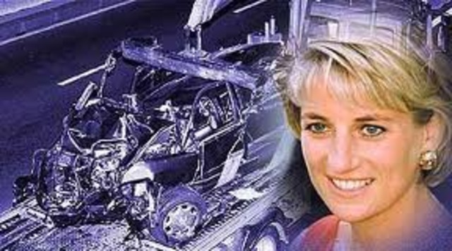 Princess Diana dies in car crash