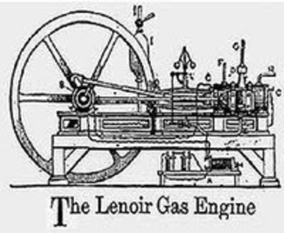 Lenoir makes a car with internal combustion engine