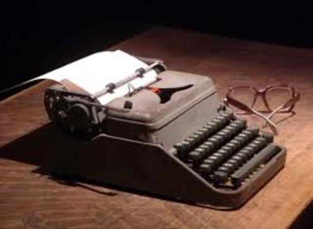 En 1833 la maquina de escribir fue concedida patente francesa