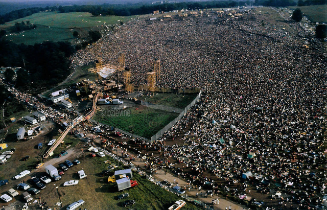 The woodstock festival begins