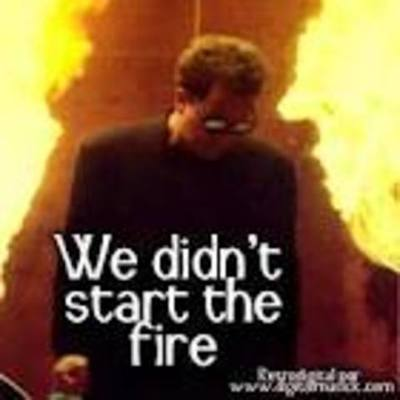 "Key event for song..."" We Didn't Start The Fire"" timeline"