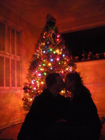 Decorating our first tree