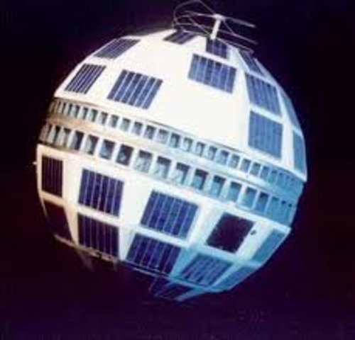 Telstar 1, U.S. satellite, beams the first live transatlantic telecast
