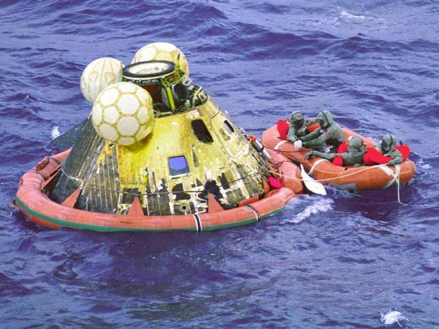 Apollo 11 returns home
