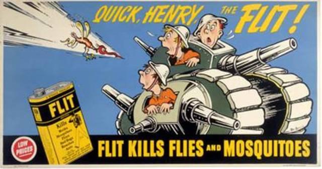 Drew the cartoon about Flit, a popular bug killer