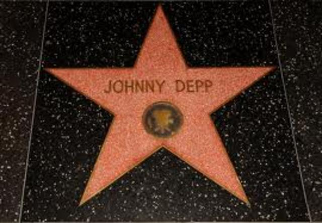 Johnny got his star on the Hollywood Walk of Fame