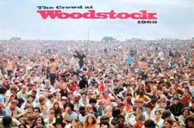 "Woodstock - 3 day festival of ""love and music"""