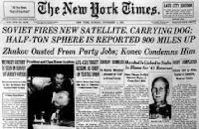 USSR launched Sputink 1