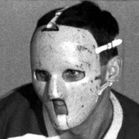 First Goalie to Wear Helmet