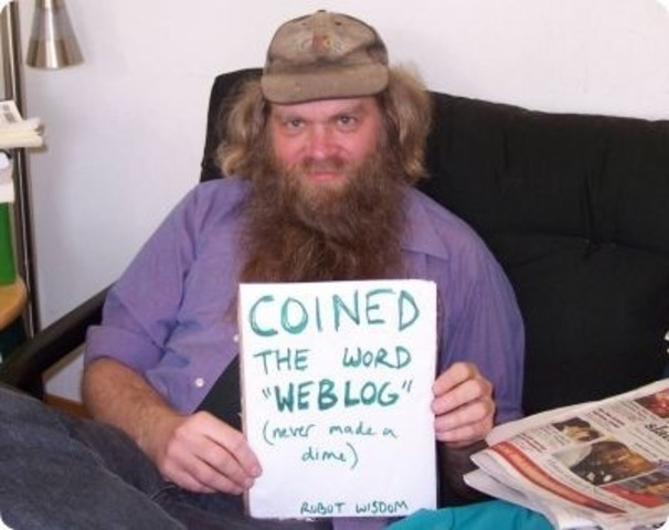 Jorn Barger coins the word 'weblog'