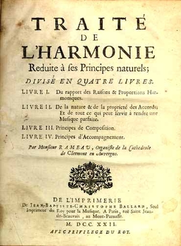 """Traité de l'harmonie"" per Jean-Philippe Rameau."