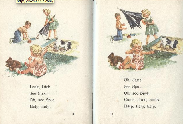 First Reading Memory - Dick and Jane Easy Readers