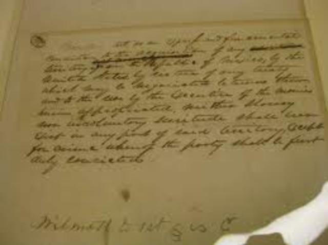 1846 Wilmot Proviso