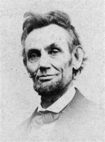 March 4, 1861 Lincoln is president